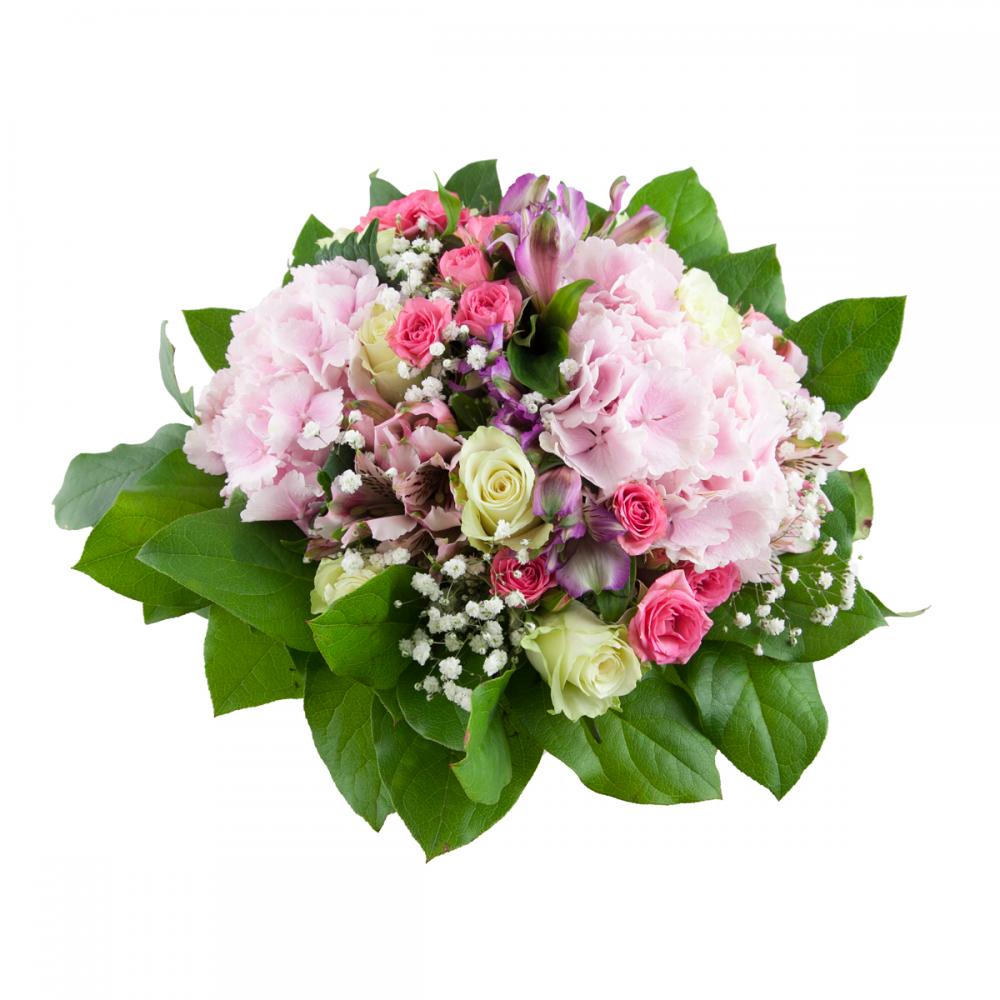 Flower bouquet Hydrangea - Tros rose - Rozvoz květin do 90ti minut
