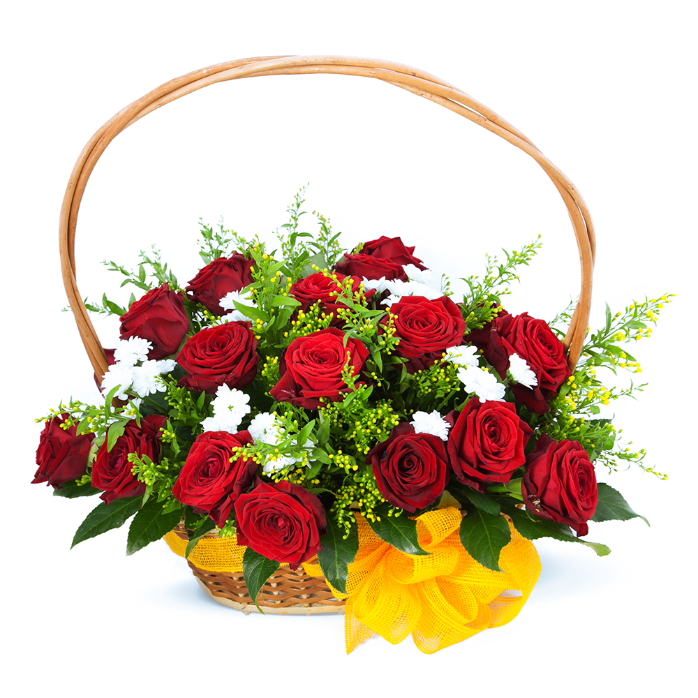 Букеты цветов к юбилею в корзинах, букет