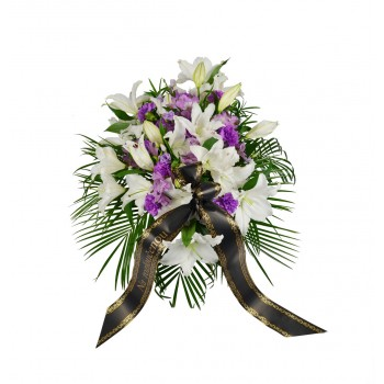 Smuteční kytice Lilie a Karafiát na položení