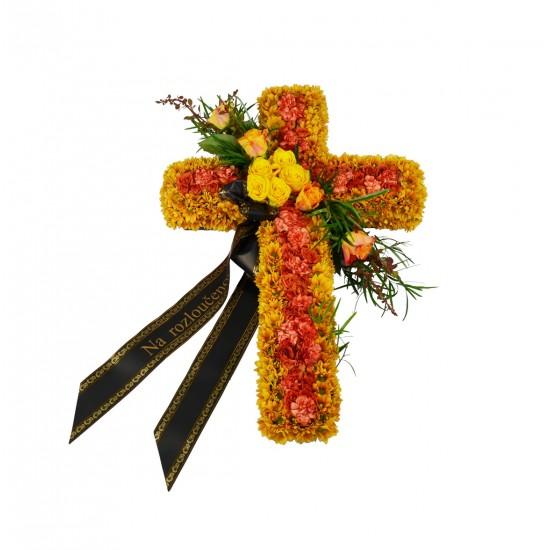 Smuteční kříž oranžový