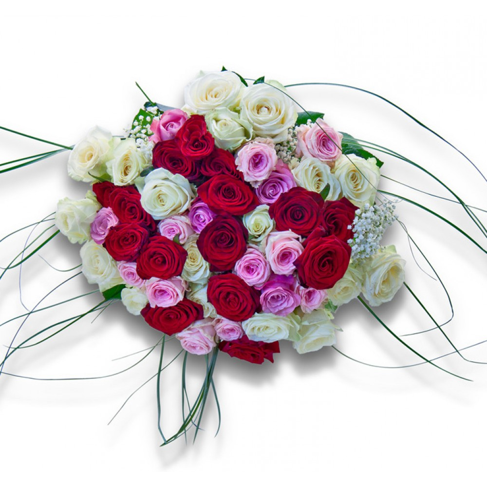 Bride an amazing bouquet full of roses of all colors rozvoz bride izmirmasajfo