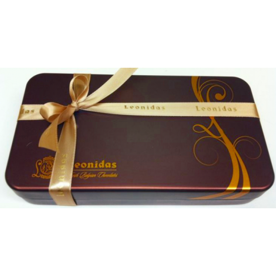 Leonidas pralines tin can