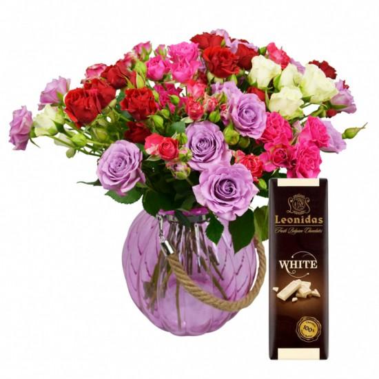 Trsová růže a čokoláda