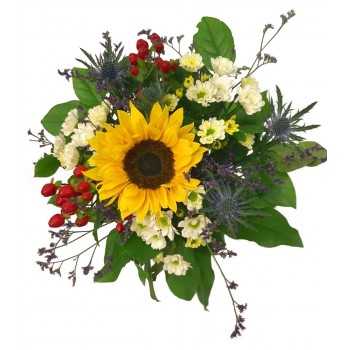 Bouquet of Sunflowers and thistle