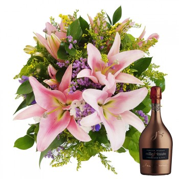 Star lily with luxury wine