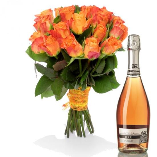 Ohnivá růže S Rosé Spumante