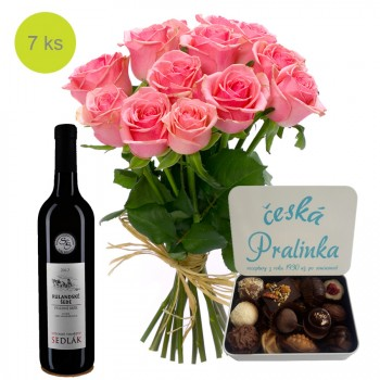 Romance with wine and chocolate