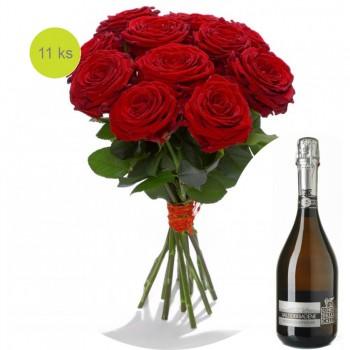 Růže Red Naomi Valdobbiadene Prosecco