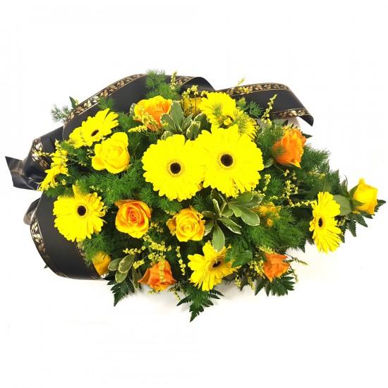Smuteční kytice Gerbery a Růže