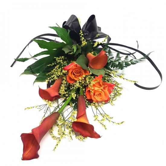 Smuteční kytice Cally a Růže